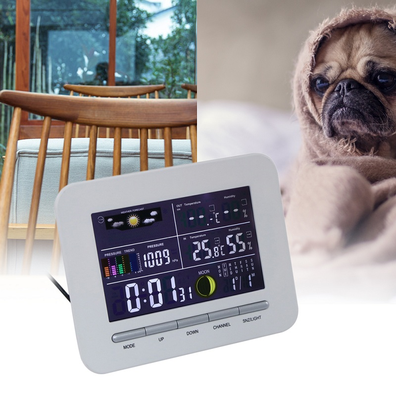 Digital LCD Display Weather Station Wireless Indoor Outdoor Thermometer Electronic Temperature Humidity Meter Humidity lcd digital temperature humidity moisture meter weather station indoor