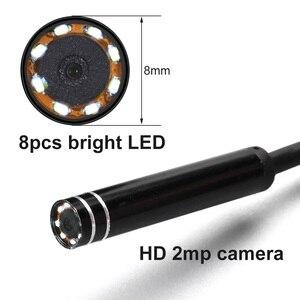 Image 3 - 2018 Più Nuovo 2MP 8mm Impermeabile Mini 3 In 1 Endoscopio Wire USB Snake Tubo di Ispezione Periscopio Compatibile Smartphone Android PC