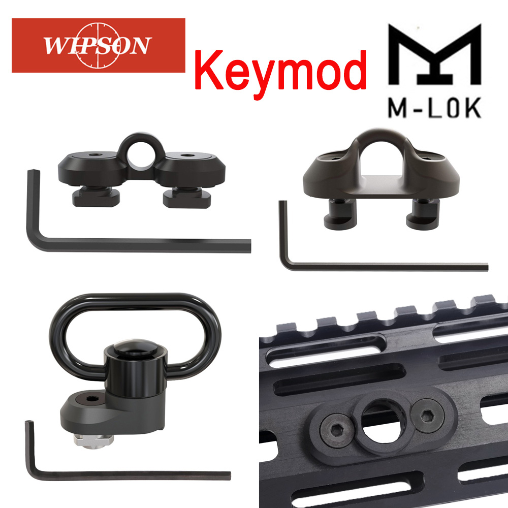 M-lok QD Sling Mount Sling Swivel 1.25 Inch Adapter Attachment for M lok Rail Button Quick Detach Release QD Sling Swivel Scope universal steel sling mount adapter black