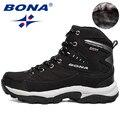 Мужские кроссовки BONA  зимние ботинки для пеших прогулок  бега  горные спортивные ботинки  альпинистские кроссовки  бесплатная доставка