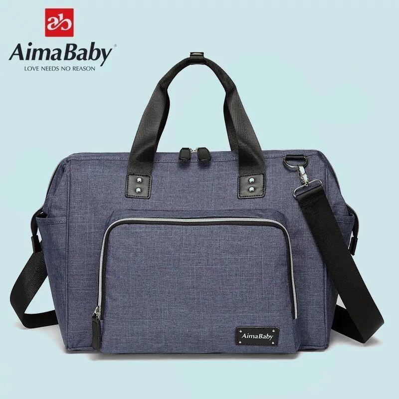 Aimababy grand sac à langer organisateur marque Nappy sacs bébé voyage maternité sacs pour mère bébé poussette sac à main couche - 2