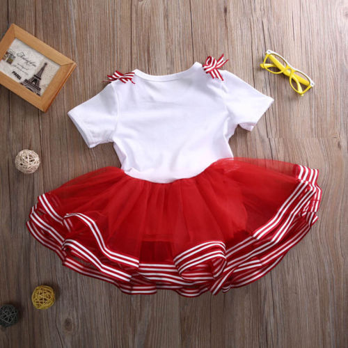 13b824723 Christmas Childrens Kid Baby Girls Clothes Candy Cane Cutie Xmas ...