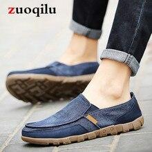 Canvas Men Shoes Denim Lace-Up Men Casual Shoes Plimsolls Breathable Men Canvas Shoes Male Footwear Spring Autumn