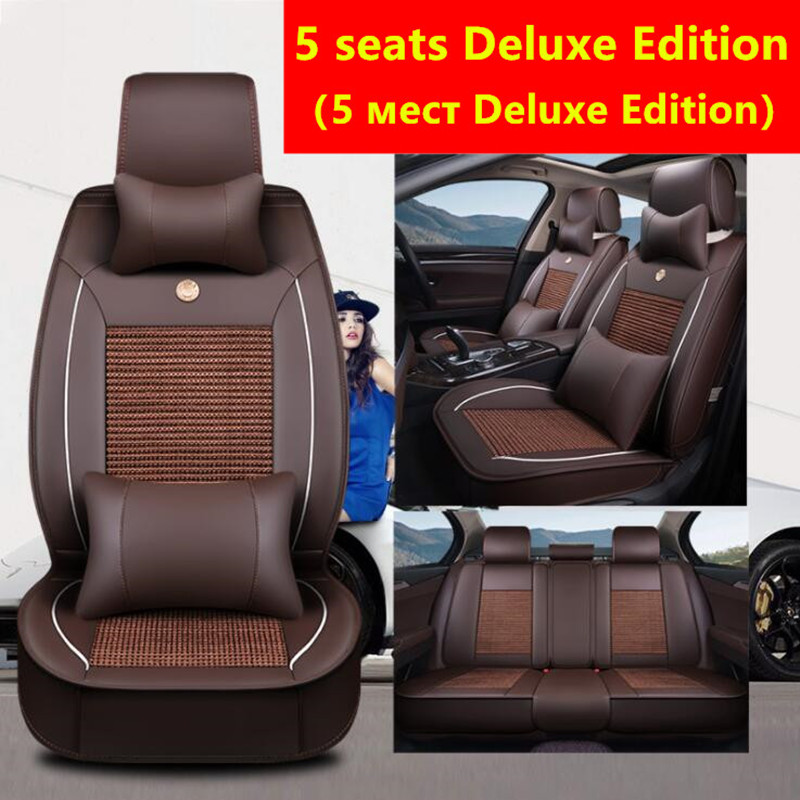 PU leather+Ice silk car seat cover For Mercedes Benz A B C D E S series Vito Viano Sprinter Maybach CLA CLK car stylingPU leather+Ice silk car seat cover For Mercedes Benz A B C D E S series Vito Viano Sprinter Maybach CLA CLK car styling