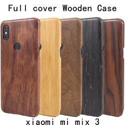 На Алиэкспресс купить чехол для смартфона natural wooden bamboo case for xiaomi mi mix 3 mix3 wood latte case cover walnut shell full cover style 2 stable real wood