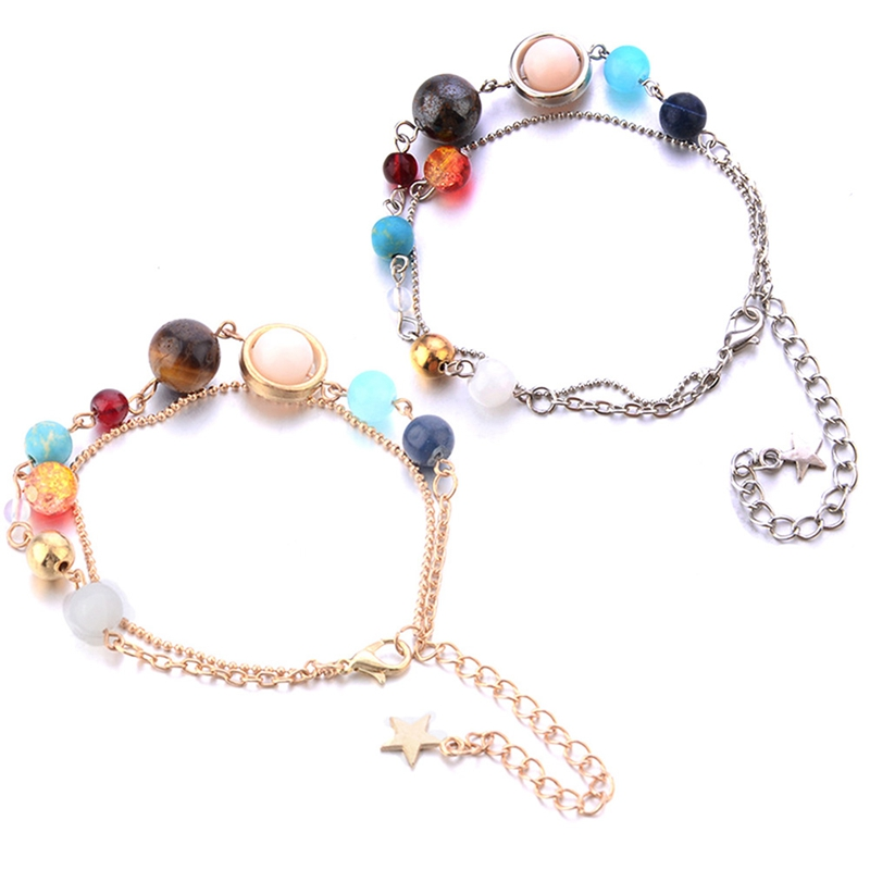 Jewelry Sets & More The Eight Planets Solar System Beads Bracelet Energy Star Natural Stone Chain Anklet For Women Gift Crazy Price