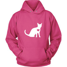 Cat Lover Hoodie / Kitty hoody feline gift cat kitten clothing kitty birthday party -Z203