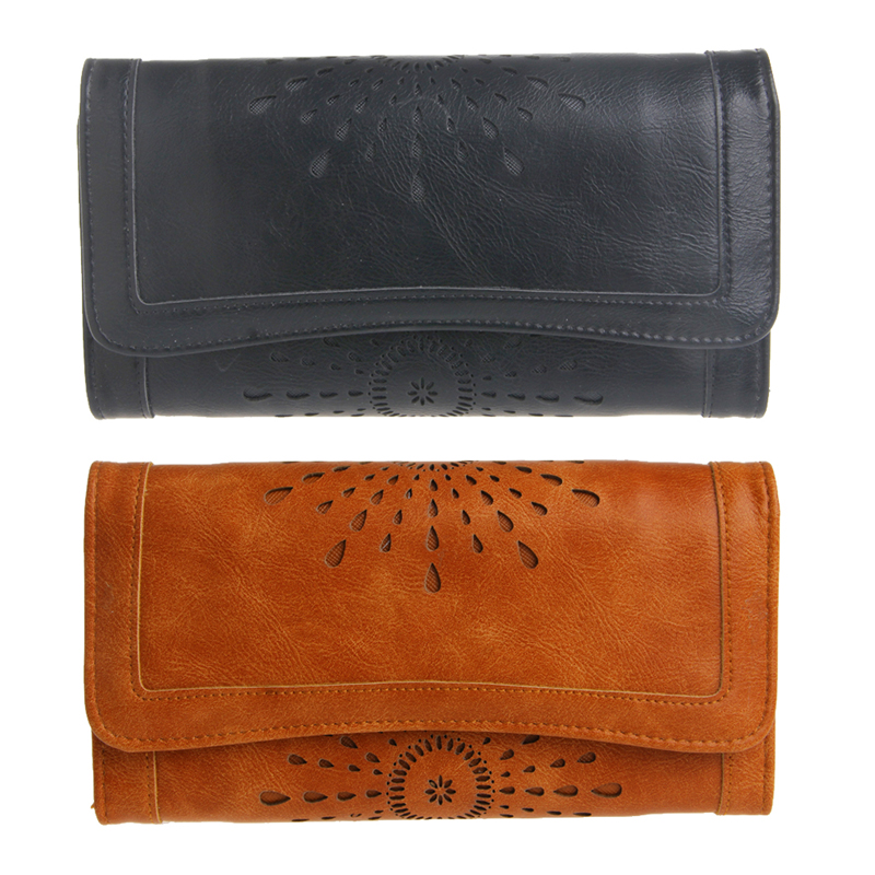 New Arrive 1Pc Women Lady Faux Leather Clutch Envelope Wallet Long Card Holder Purse Hollow Hot  new arrive 1pc women lady faux leather clutch envelope wallet long card holder purse hollow hot