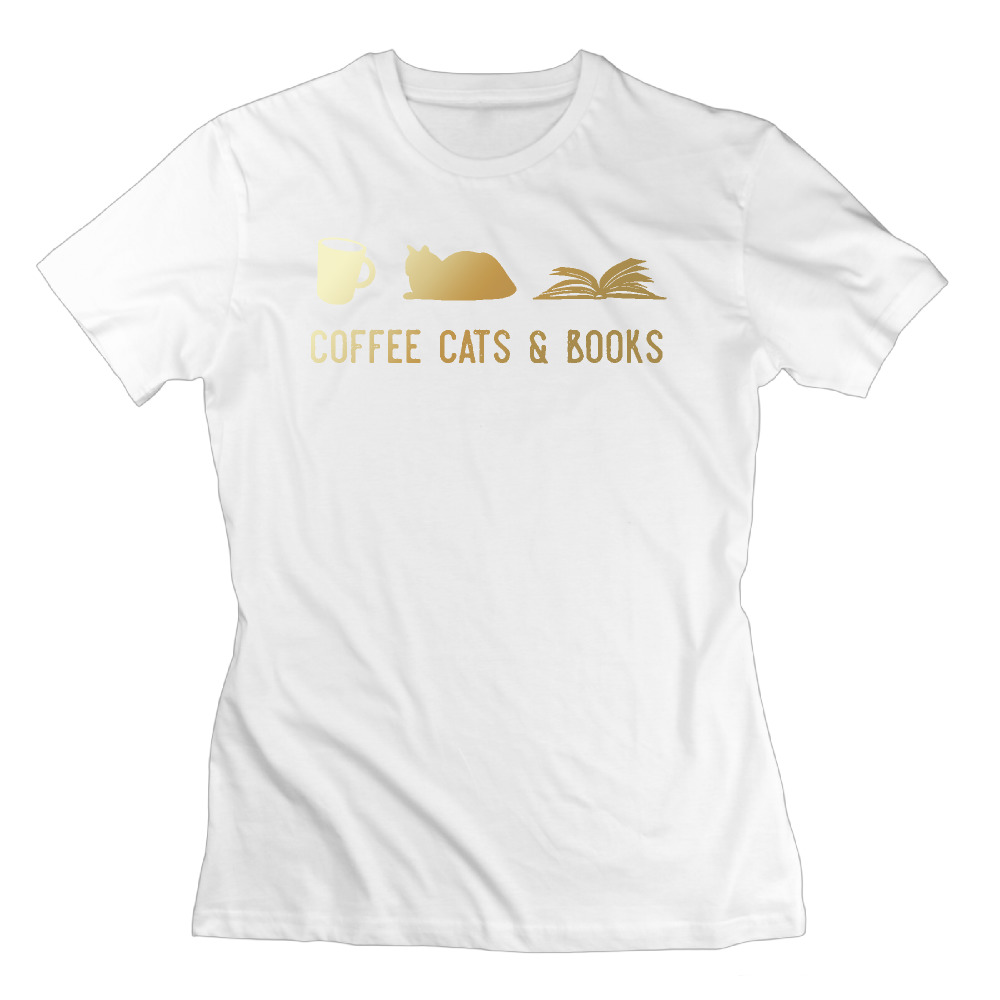 line Shop printed anime A cat reading a Book graphic tees normal