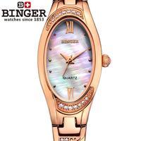 Switzerland Binger Women's watches fashion luxury clock quartz Watch Women sapphire full stainless steel Wristwatches B 3022L 4