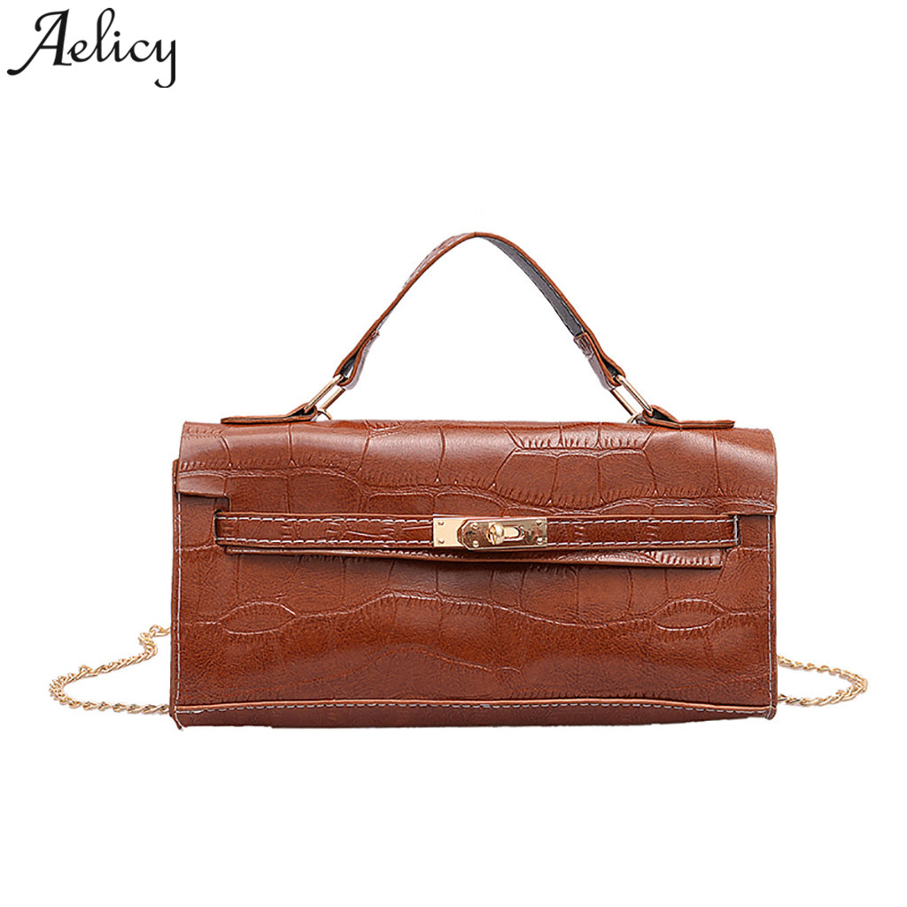 Aelicy Ladies Shoulder Bag leather Stone Pattern girls Crossbody bags Versatile Fashion handbags luxury women Messenger Bag 2019Aelicy Ladies Shoulder Bag leather Stone Pattern girls Crossbody bags Versatile Fashion handbags luxury women Messenger Bag 2019