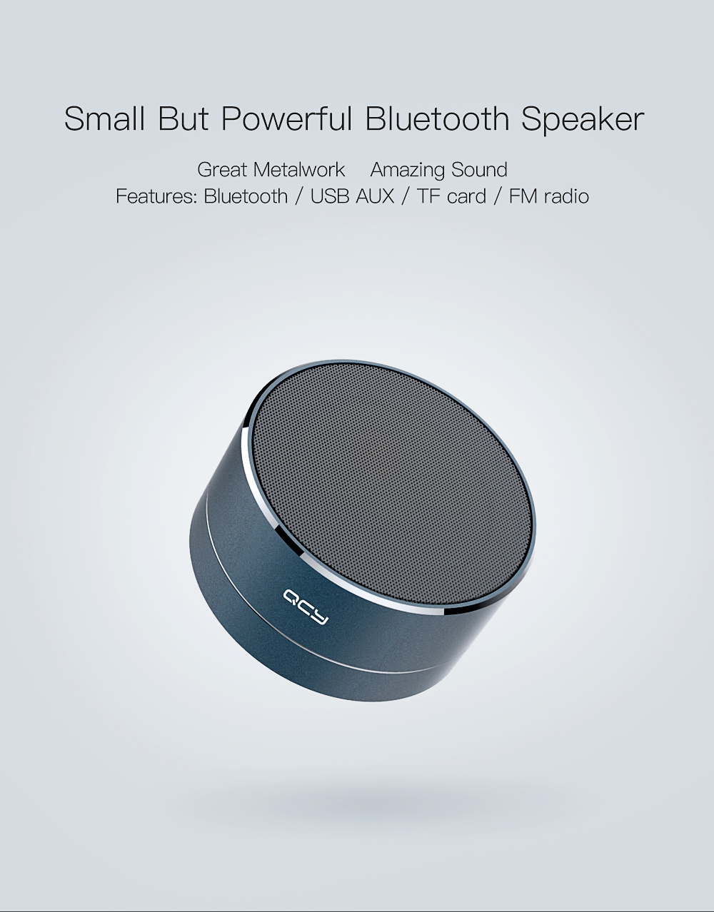 Qcy A10 Mini Portable Bluetooth Speaker Metal Subwoof With Bri Xiaomi Mifa F10 Outdoor Ipx6 Waterproof Product Description