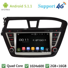 "Quad Core 8 ""1024*600 del Androide 5.1.1 Coches Reproductor de DVD Radio USB DAB + 3G/4G WIFI Mapa GPS Para Hyundai I20 Mano Izquierda Conducir 2014 2015"
