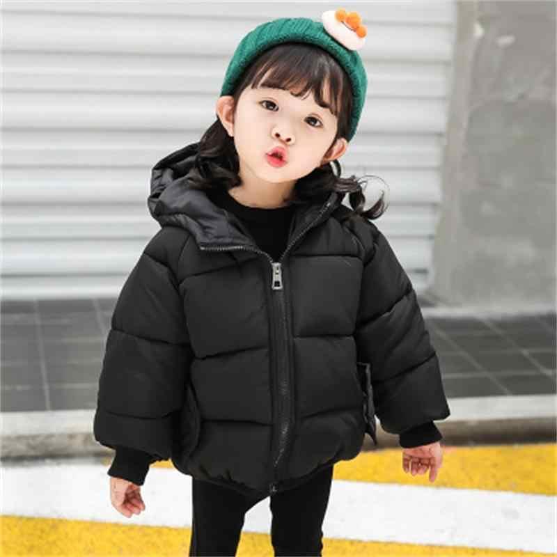 ... Хлопковое пальто для маленьких девочек, новинка 2018 года, зимняя  детская одежда, хлопковая рубашка ... 0b2ff0c1880