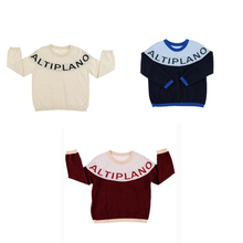 ALTIPLANO sweater 2017 ins baby boy girls kids letter pull knit