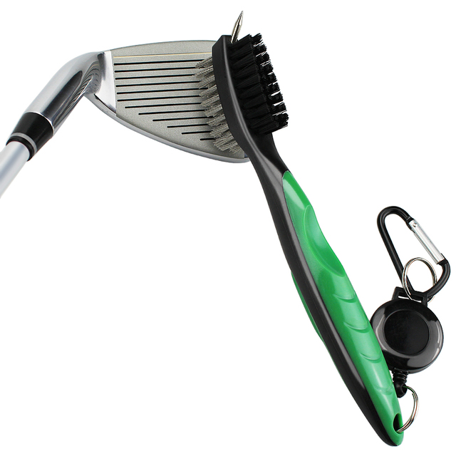 Golf Club Brush Golf Groove Cleaning Brush 2 Sided Golf Putter Wedge Ball Groove Cleaner Kit Cleaning Tool Gof Accessories 2