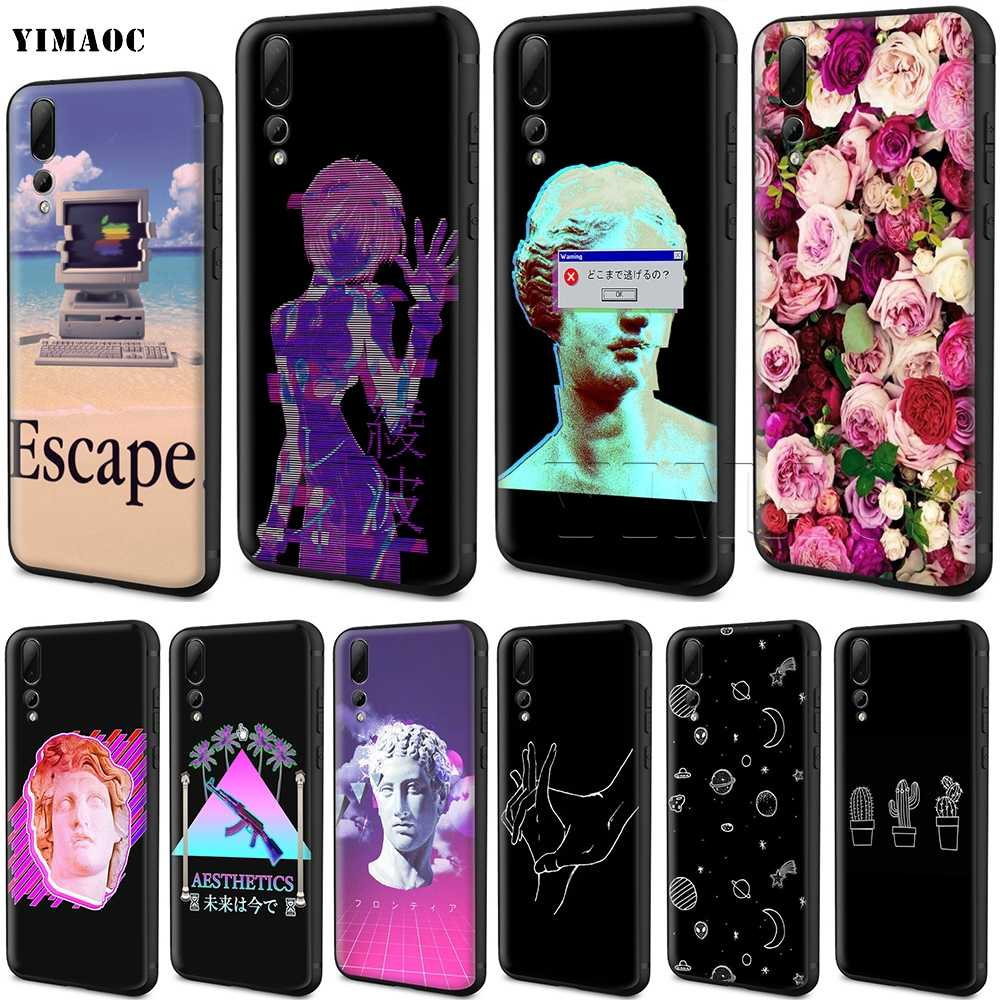YIMAOC Vaporwave Aesthetics Silicone Case for Huawei Honor 6a 7a 7c 7x 8 9 10 Lite Pro Y6 2018 2017 Prime