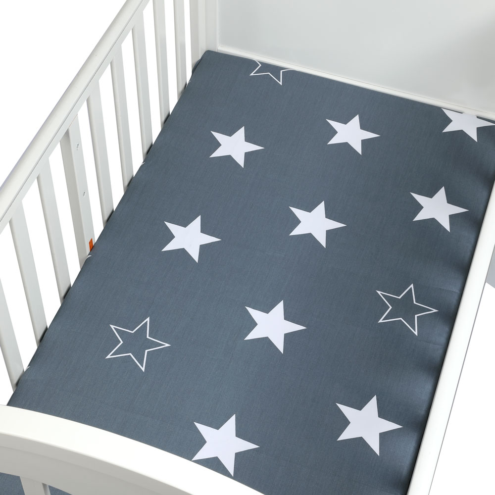1PCS 130*70cm The Best Gift Newborn Baby Crib Fitted Sheet Soft Breathable Baby Bed Mattress Cover Potector Cartoon Newborn Bed