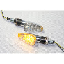 motorcycle parts LED Dual Sport Turn Signal For Yamaha For Suzuki For Kawasaki For Honda clear