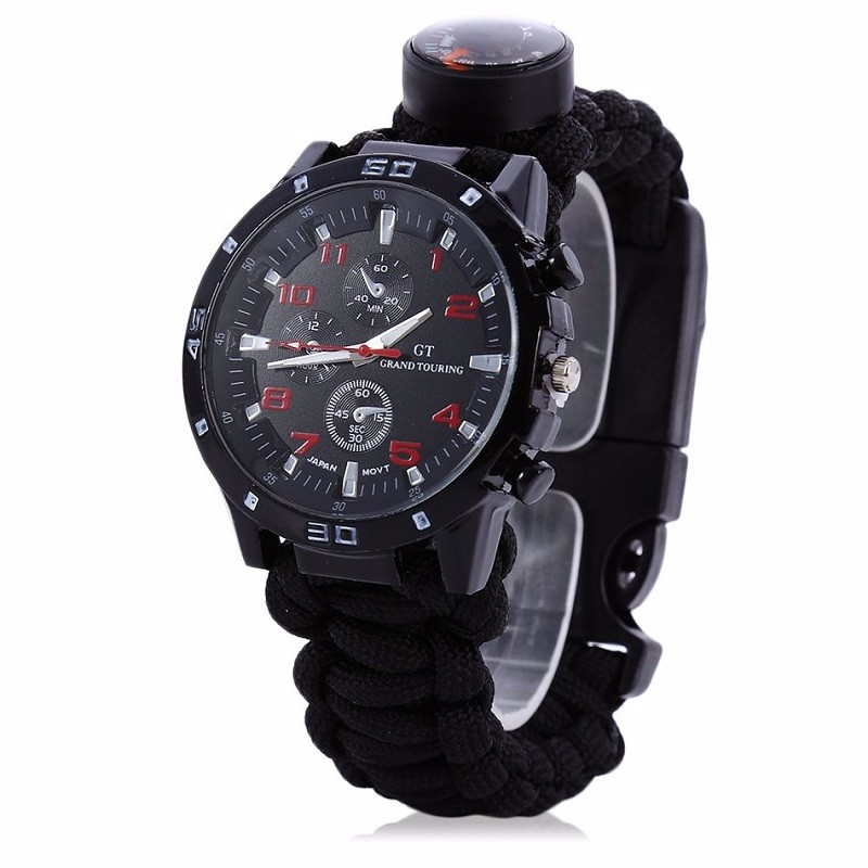 Multifuctional-6-in-1-Outdoor-Survival-Watch-Bracelet-with-Compass-Flint-Fire-Starter-Paracord-Thermometer-Whistle (1)