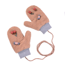 Female Winter Warm Cute Cartoon Knit Gloves Girl Women Fashi