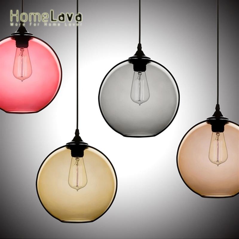 Ball Glass Pendant Lights LED Ceiling lamp for Interior home lighting 1 Light hanglamp 7 Colors home lighting