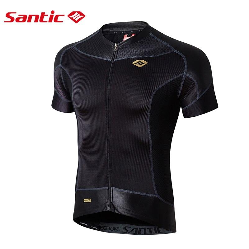 Maillot de vélo SANTIC pour homme maillot de cyclisme d'été maillot de vélo Pro manches courtes chemise de Motocross descente vtt vêtements de montagne