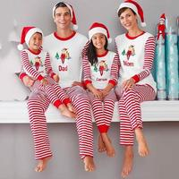 Family Matching Clothes Set Family Look Family Christmas Pajamas T Shirt Pants Suit Mother And Daughter