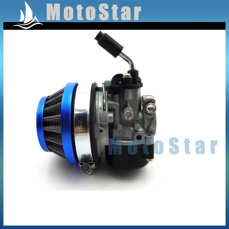 Performance carburetor 58mm blue air filter for 49cc 50cc 60cc getsubject aeproducttsubject fandeluxe Gallery