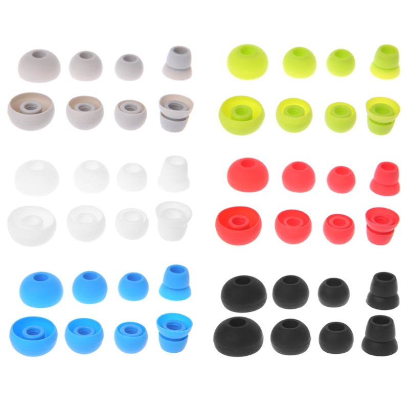 New 4 Pairs Silicone Earbud Tips Replace For Beats Powerbeats 2/3 Wireless Headphone