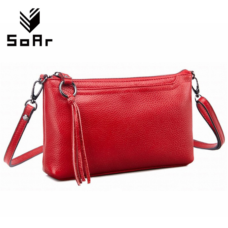 SoAr Genuine Leather Women Messenger Bags Cute Flap Female Hot Sale Tassel Shoulder Bags Luxury Brands Cow Leather New Arrival 4 2017 hot sales female fashion women cute messenger bags rivet shoulder bag leather crossbod new brand a8