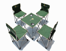 Folding tables and chairs outdoor Set No. 4 with a handbag