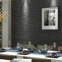 Grasscloth etkisi düz dokulu odası duvar kağıdı rulo Modern basit duvar kağıdı yatak odası oturma odası için ev dekor, koyu gri