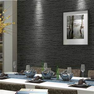 Image 1 - Grasscloth etkisi düz dokulu odası duvar kağıdı rulo Modern basit duvar kağıdı yatak odası oturma odası için ev dekor, koyu gri