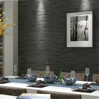 Brief Style Plain Classic Straw Design Coffee Black Grey Beige Wall Paper Wallpapers Roll For Office