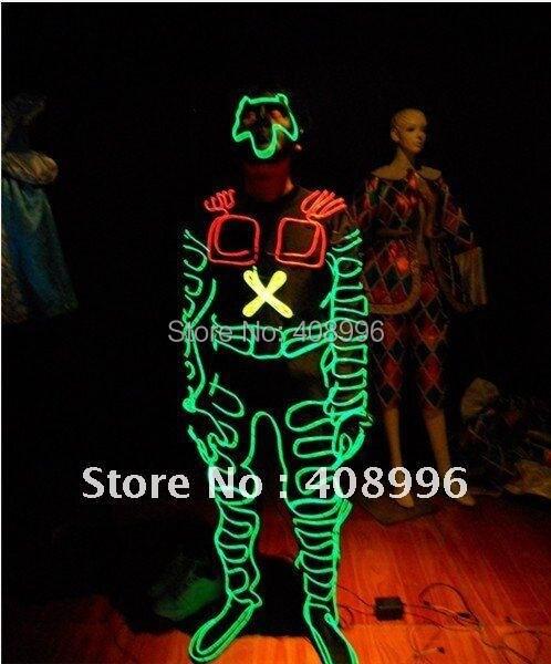 El Провода робот костюм для шоу талантов/вечерние производительность/для выступления/Light-Up костюмы