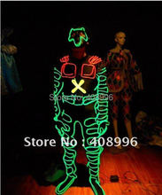 EL Wire robot suit for talent show/ evening performance/stage performance/light-up costumes