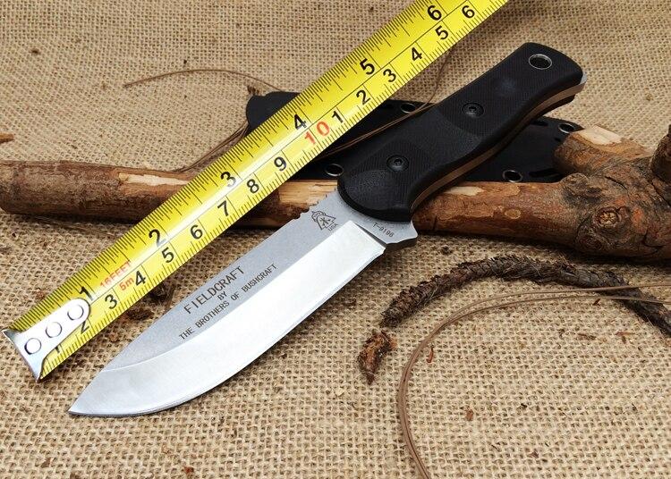 NOUVEAU! Couteau fixe tactique à hauts niveaux Fieldcraft, frères de Bushcraft lame G10 9Cr18Mov manche couteau de Camping.