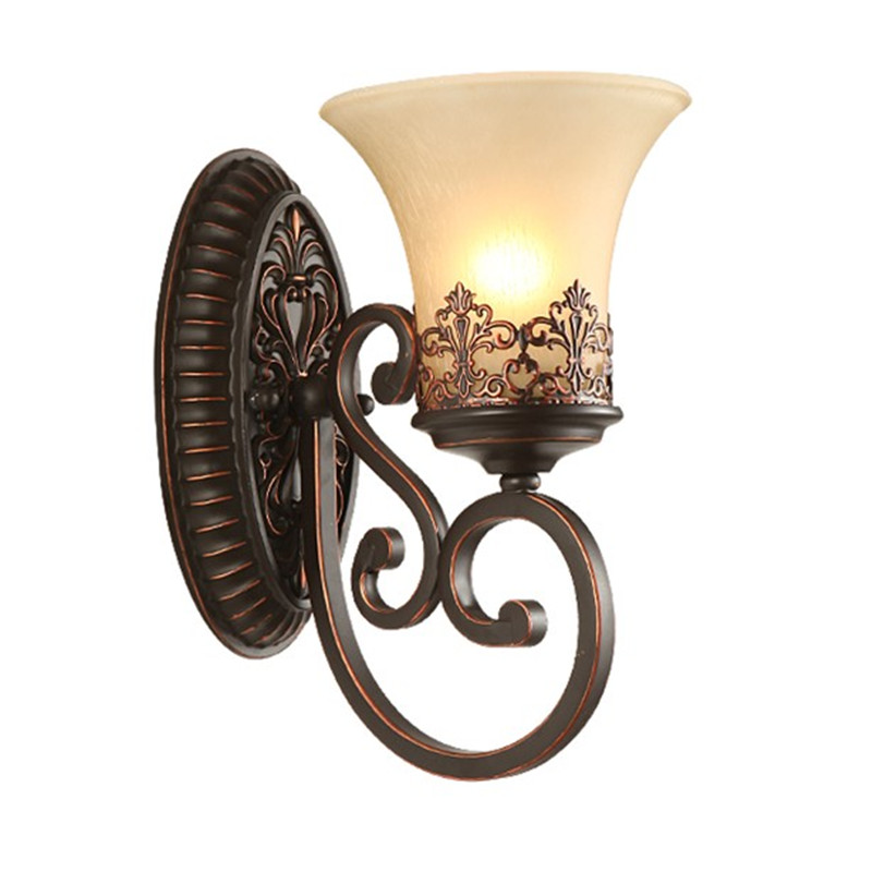 Vintage Wall Lamp Retro Light Fixture European Classic Wall Sconce Metal Glass Fitting Lamparas Home Lighting LuminairesVintage Wall Lamp Retro Light Fixture European Classic Wall Sconce Metal Glass Fitting Lamparas Home Lighting Luminaires