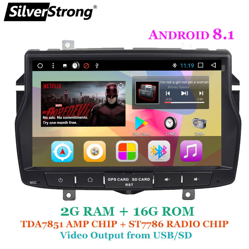 Silverstrong 8inch 1din Android8 1 Radio Car Dvd For Lada Vesta Russian Language Navitel Android Os With Video Output Ability