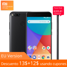 "Global Version Xiaomi Mi A1 MiA1 4GB RAM 64GB ROM Mobile Phone Snapdragon 625 8 Nucleos 5.5"" FHD Dual Back Camera Android One"