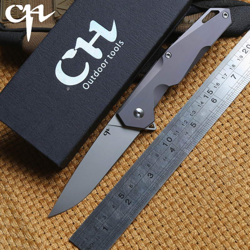 CH original TanYi ball bearing Flipper folding knife AUS-8 blade Titanium handle tactical camping survival knives outdoor tools outlife new style professional military tactical multifunction shovel outdoor camping survival folding spade tool equipment
