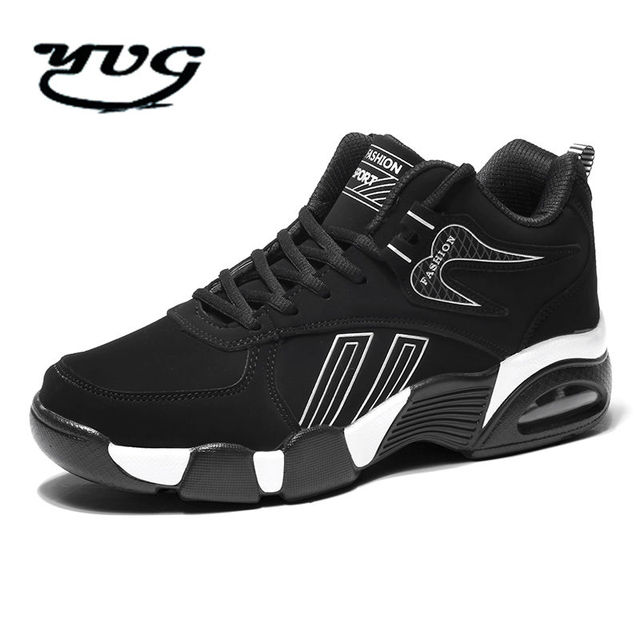 6d03876bc711 2017 New Brand Men Basketball Shoes Court Male Basketball Ankle Boots for  Homme Couple Lace on Court Sports Sneakers Size 40-44