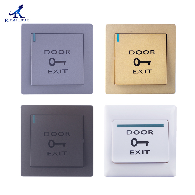 Exit Push Buttons For Maglocks Security Door Controls EXIT SWITCH Single Gang Mount Button Indoor Push To Exit Button