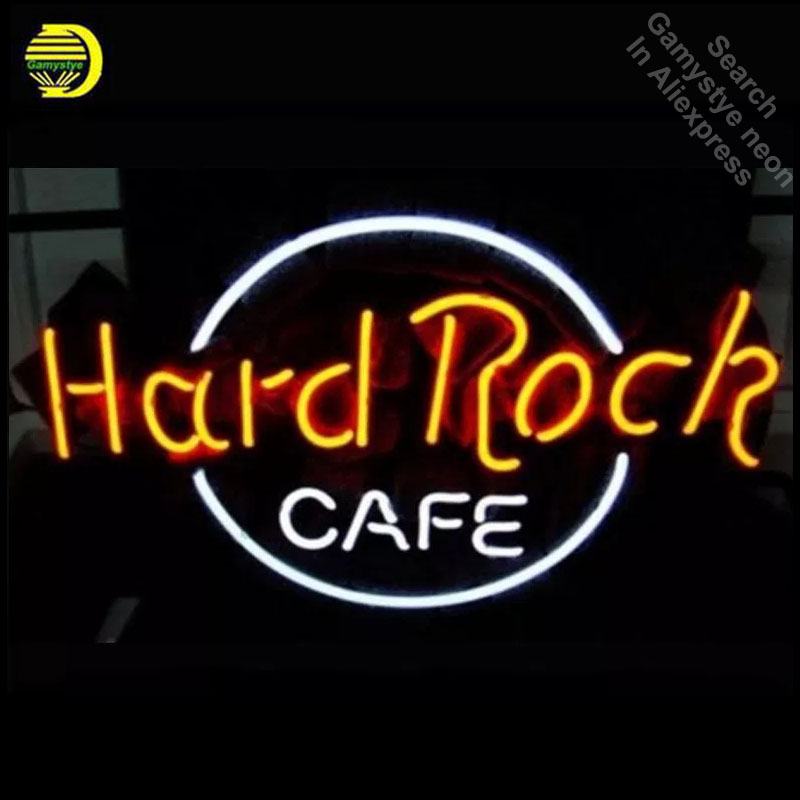 Business Custom NEON SIGN Board For Rock Brand REAL GLASS Tube BEER BAR PUB Club Shop Light Signs 17*12 Free Design Neon Wall