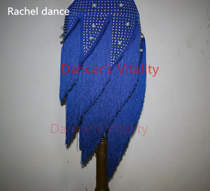 Image 5 - 레이디 성능 라틴 댄스 의류 수석 여성 돌 술 술 라틴 댄스 드레스 여자 라틴 댄스 쇼 라틴 댄스 드레스