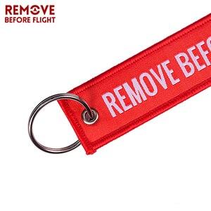 Удалить перед полетом Тканое кольцо для ключей специальная бирка для багажа этикетка красная цепочка брелок для авиационных подарков брелок OEM Модные ювелирные изделия