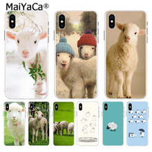 MaiYaCa sheep Luxury High-end phone Accessories case for Apple iPhone 8 7 6 6S Plus X XS max 5 5S SE XR Mobile Cover
