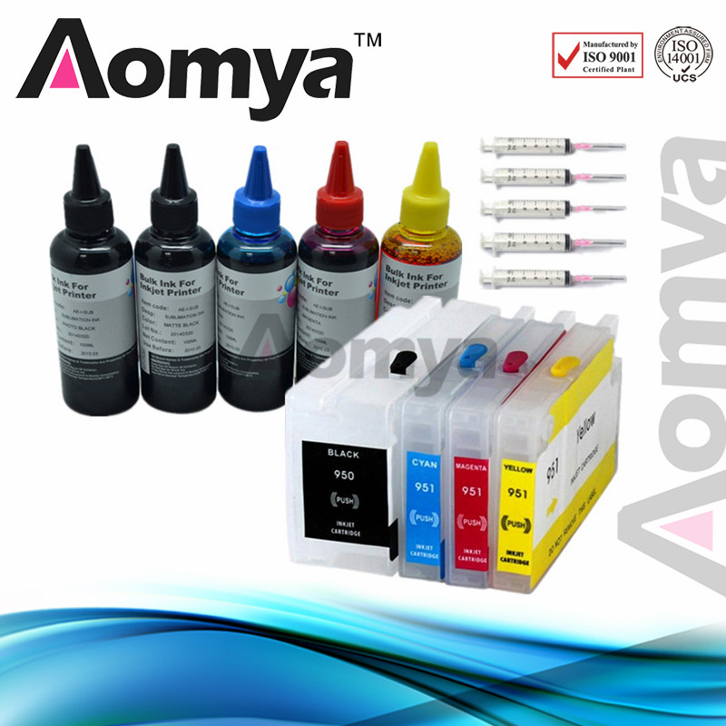 Aomya Specialized Refill Ink Kits Replacement For HP 950 951 Ink Cartridge Printer Ink For HP