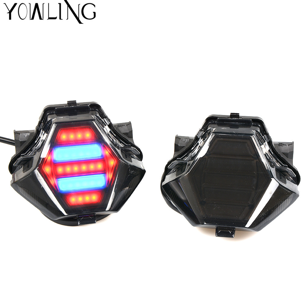 Motorcycle Integrated LED Tail Light Turn Signal Brake Light 100% Brand New For Yamaha MT-07 FZ-07 MT07 YZF R3 R25 MT-03 MT-25 for yamaha fz 09 mt 09 fj 09 mt09 tracer 2014 2016 motorcycle integrated led tail light brake turn signal blinker lamp smoke